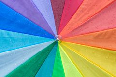 Colorfull umbrella as a background stock photography