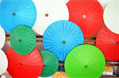 Colorfull umbrellas Stock Image