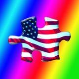 COLORFULL USA PUZZLESPIEL-STÜCK Lizenzfreie Stockfotografie