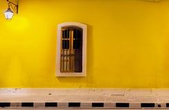 Colorfull vägg, fransk koloni, Pondicherrry Arkivfoto