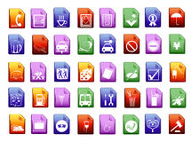 Colorfull vector icons Stock Photography