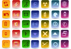 Colorfull vector icons Stock Photos