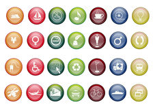 Colorfull vector icons Royalty Free Stock Photography