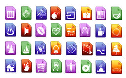 Colorfull vector icons Stock Images