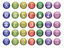 Colorfull vektorikonen stockbilder