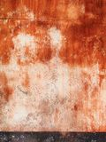 Colorfull vibrant outdoor bumpy brick red color perspective vintage wall. Texture stock image