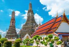 Colorfull Wat Arun, Μπανγκόκ, Ταϊλάνδη Στοκ φωτογραφία με δικαίωμα ελεύθερης χρήσης