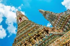 Colorfull Wat Arun, Μπανγκόκ, Ταϊλάνδη Στοκ εικόνα με δικαίωμα ελεύθερης χρήσης