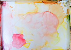 Colorfull watercolor palette art wallpaper Stock Images