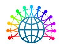 Colorfull Weltfriedensclipkunst Lizenzfreies Stockbild