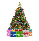 Colorfull xmas drzewo Zdjęcia Royalty Free