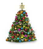 Colorfull xmas tree Royalty Free Stock Images