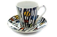 colorfull zamknięta kawowa filiżanka rozdaje kawowy obraz royalty free