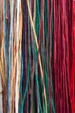 Colorfull zasznurowywa tło Zdjęcia Stock