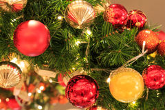 Colorfullfull christmas tree. Colorfull christmas ball on a christmas tree Stock Photo