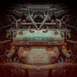 Colorfullkunst op abstracte magische plonsenachtergrond toekomstige technologie-achtergrond - cyberpunk stock illustratie