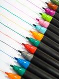colorfulllinje pennor royaltyfri foto