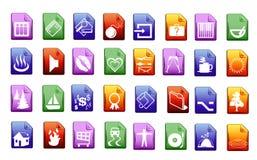 colorfullsymbolsvektor Arkivbilder