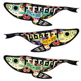 Colorfullvissen royalty-vrije illustratie
