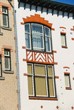 Colorfully decorated house facade in Dordrecht. Stock Photo