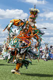 Colorfully dressed young man at powwow. Stock Image