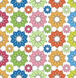 Colorfully flowers pattern Stock Photography