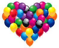 Colorfully heart. Balloons as heart shape floating Royalty Free Illustration