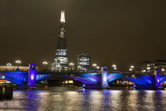 Southwark Bridge and the Shard in London Royalty Free Stock Image