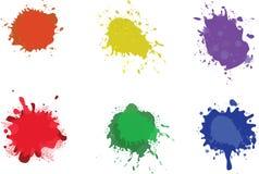 colorfully inställda färgstänk Royaltyfri Foto