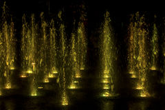 Colorfully lit fountain Royalty Free Stock Image