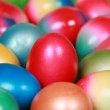 Colorfully painted Easter eggs Stock Image
