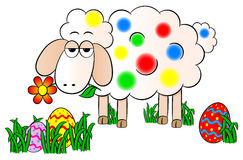 Colorfully painted easter lamb Stock Image