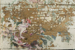 Colorfully painted old wooden surface Royalty Free Stock Photos