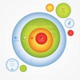 Colorfully vector presentation. Creative, modern design template Stock Image