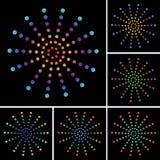 colorfully vektor stock illustrationer