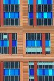 Colorfulpattern of windows, Boston, Massachusetts, USA Stock Photography