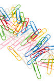 Colorfup paper clips Royalty Free Stock Photo