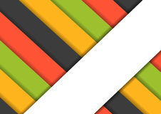 Colorfur striped background with one big white stripe Stock Photos