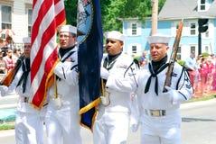 Colorguard del blu marino degli Stati Uniti Immagine Stock