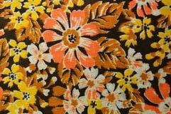 colori Ð'rown-arancio e modelli floreali Fotografia Stock Libera da Diritti
