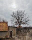 Colori acidi abbandonati cielo nuvoloso della provincia Fotografia Stock Libera da Diritti