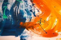 colori acrilici misti in un'immagine Fotografie Stock Libere da Diritti