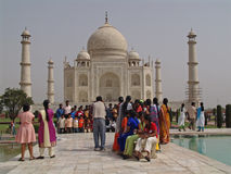 Colori al Taj Mahal Immagini Stock