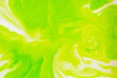 Colori, ambiti di provenienza e strutture astratti Colorante alimentare in latte Fotografia Stock