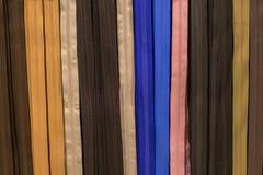 Colori assortiti delle chiusure lampo Fotografie Stock