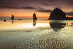 Colori astratti sulla spiaggia Fotografia Stock