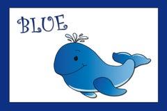 Colori: blu illustrazione di stock