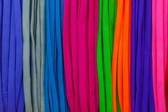 Colori Colourful di un laccetto, per il fondo di struttura fotografia stock libera da diritti