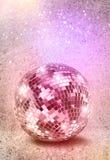 Colori d'argento dell'annata della palla dello specchio della discoteca Immagini Stock