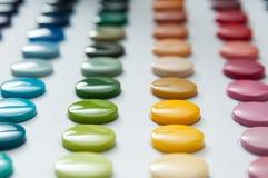 Colori dei bottoni Fotografia Stock Libera da Diritti